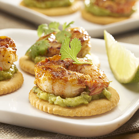 RITZ Guacamole-Shrimp Bites Recipe