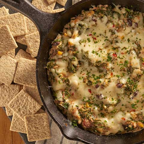 Southwest Kale 'n Queso Dip Recipe