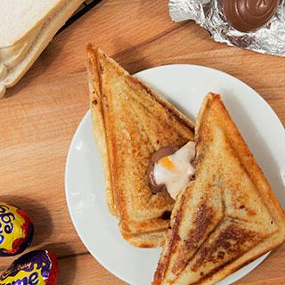 creme egg toastie