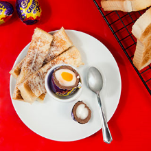 creme egg & soldiers
