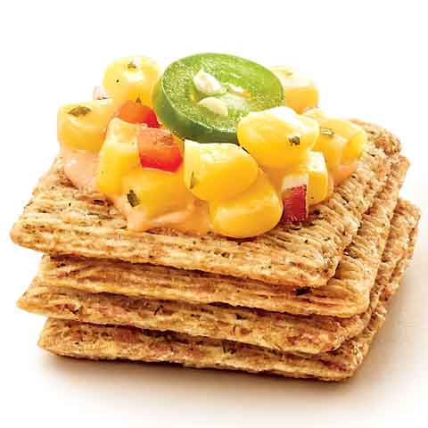 TRISCUIT Corn Salsa & Jalapeño Topper Recipe
