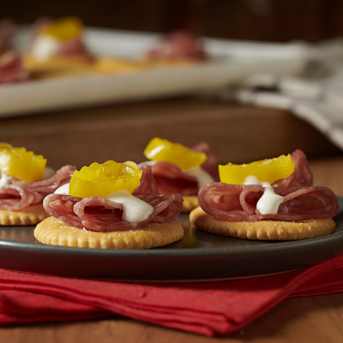 RITZ Salami & Ranch Hoagie Toppers Recipe