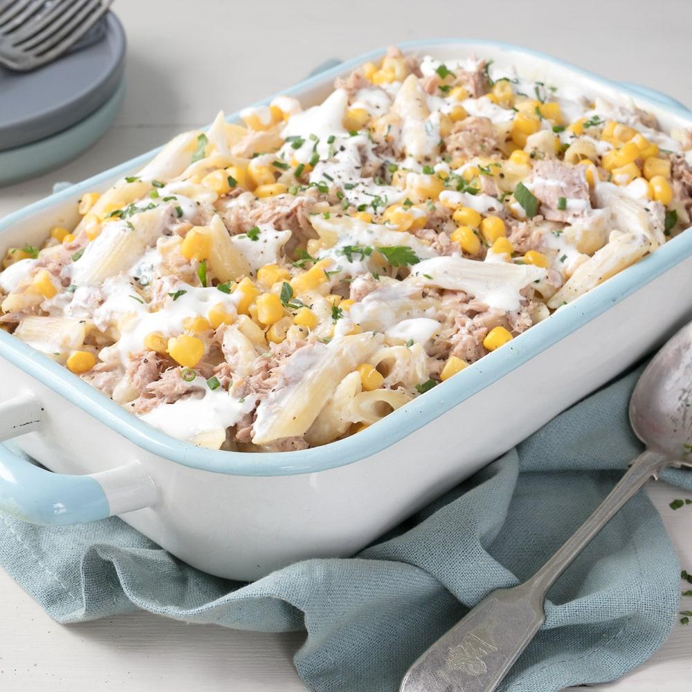 Philadelphia Recipe Philadelphia Tuna And Sweetcorn Pasta Bake