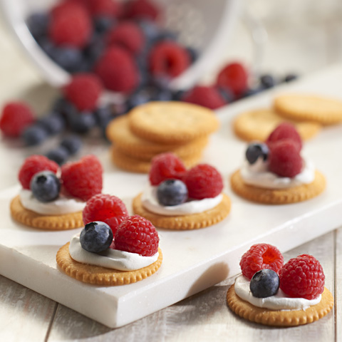 Red, White & Blue RITZ Toppers Recipe