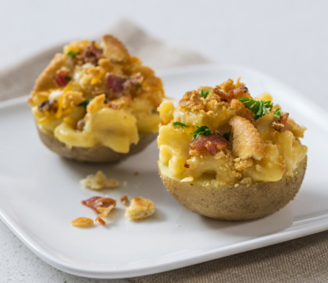 Mac 'n Cheese-Stuffed Potatoes made with RITZ Crackers Recipe