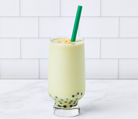 Vegan Matcha Tea Shake with OREO Cookie Pieces
