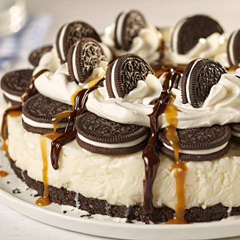 Salted Caramel OREO Ice Cream Cake Recipe