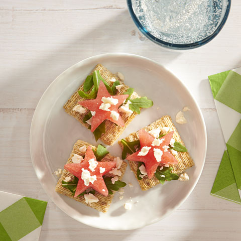 TRISCUIT Watermelon Stars and Feta Toppers Recipe