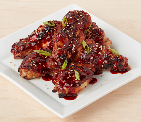 Sticky Chicken Wings made with SOUR PATCH KIDS Variegate Recipe
