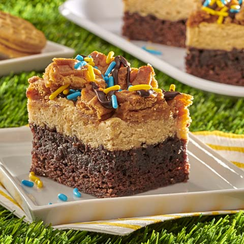 NUTTER BUTTER Brownie Cheesecake Bars Recipe