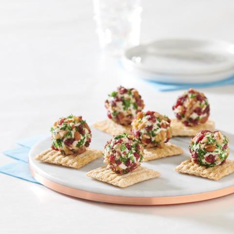 "Cranberry-Pecan Herb Cheese ""Truffle"" Bites Recipe"