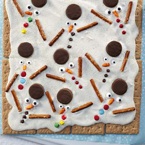 "Melted Snowmen ""Bark"" Recipe"