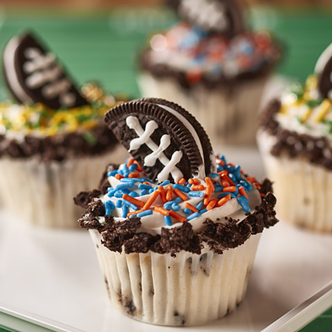 OREO Cookie Football Cupcakes Recipe
