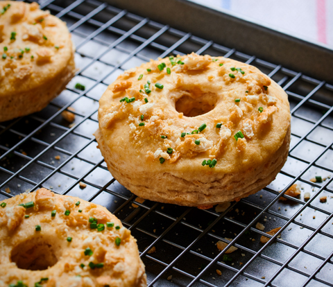 Buttermilk Cheddar Biscuit Donuts made with RITZ Crackers Recipe