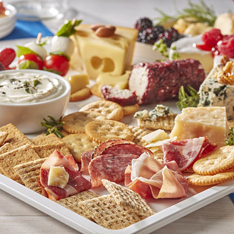 Patriotic Cheese and Meat Board Recipe