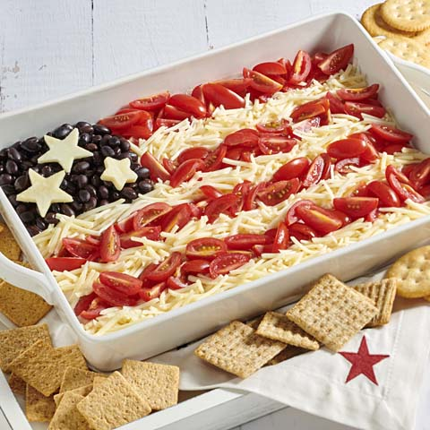American Flag Taco Dip Recipe