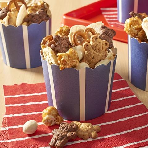 TEDDY GRAHAMS Fruity Caramel Popcorn Snack Mix Recipe