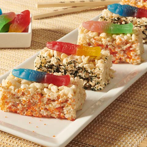 SWEDISH FISH Sushi Crispy Treats Recipe
