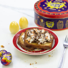 creme egg on toast