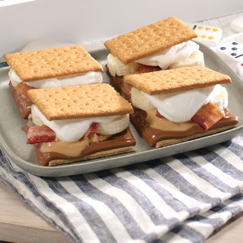 Peanut Butter, Banana and Bacon S'mores Recipe