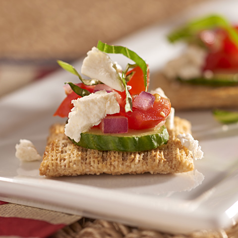 Bruschetta and Cucumber Toppers Recipe