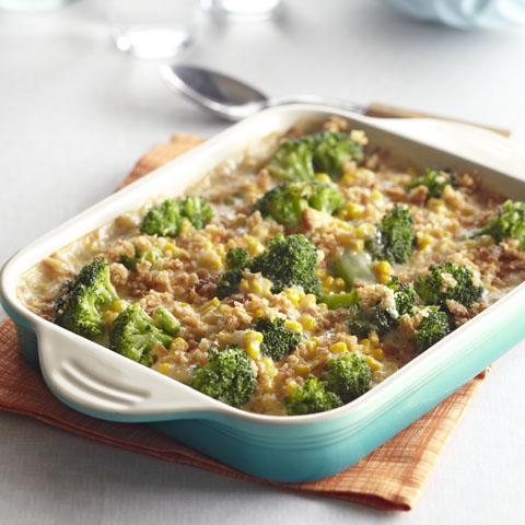 Broccoli and Corn Scallop Recipe