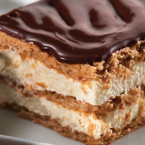 No bake dessert recipes easy chocolate eclair squares recipe forumfinder Gallery