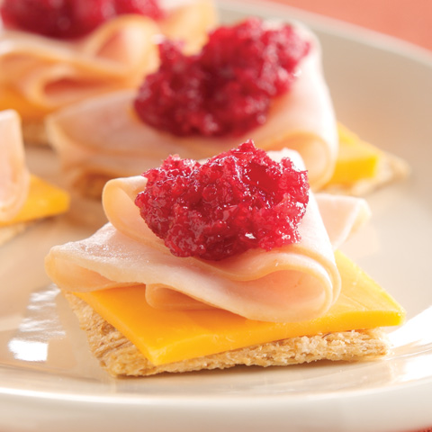 Cranberry-Cheddar Turkey Snacks Recipe