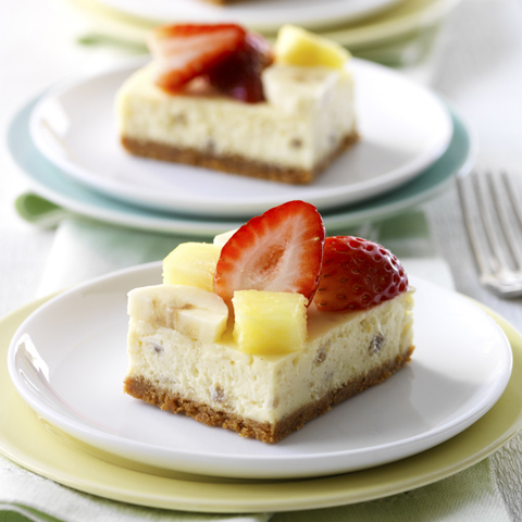 Banana Split-Cheesecake Squares Recipe