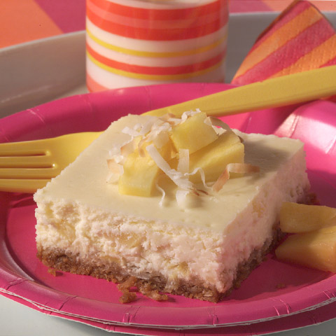 Pina Colada Cheesecake Squares Recipe
