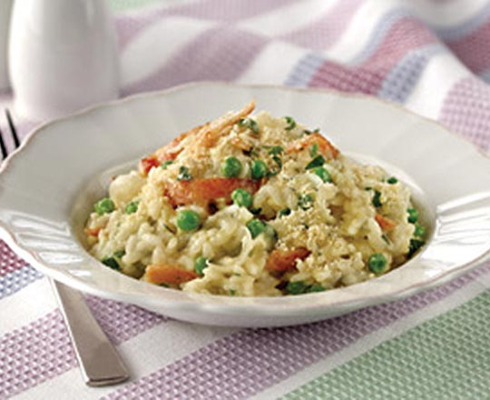 Pea and Bacon Risotto - Everyday Delicious Kitchen