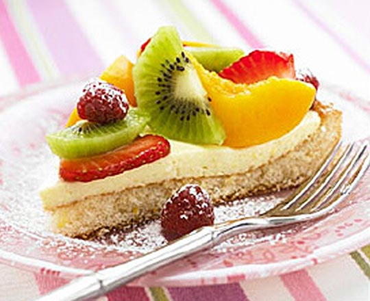 fruit flan with cointreau cream everyday delicious kitchen. Black Bedroom Furniture Sets. Home Design Ideas