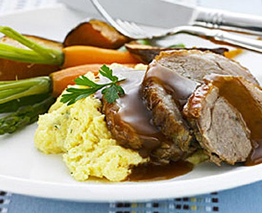 Roast Lamb with Philly* Polenta