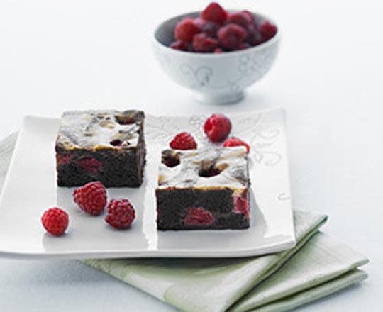 Black and White Raspberry Slice