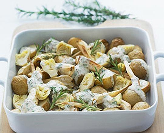 Warm Potato, Parsnip & Artichoke Salad
