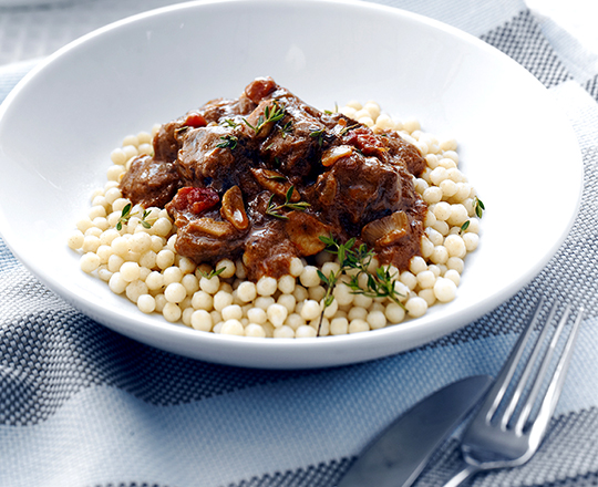 Slow Cooked Beef and Red Wine Casserole