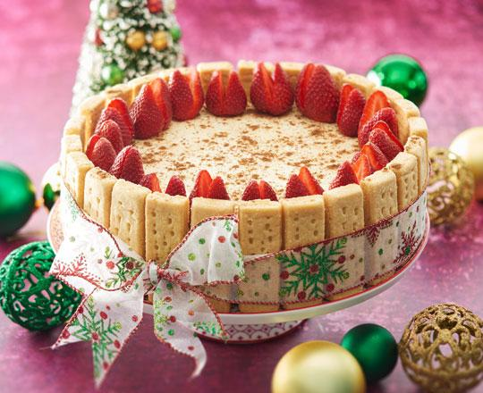 Baked Christmas Eggnog Cheesecake - Everyday Delicious Kitchen