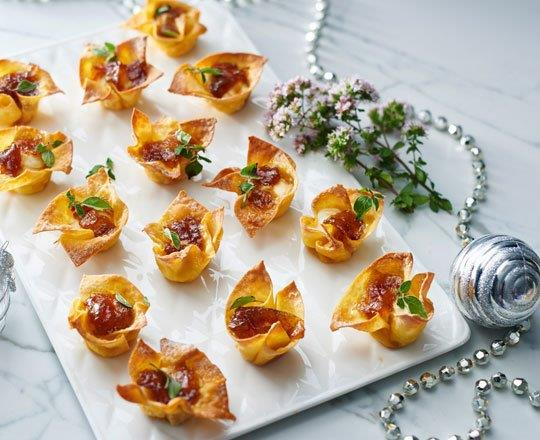 PHILLY and Onion Jam Wontons