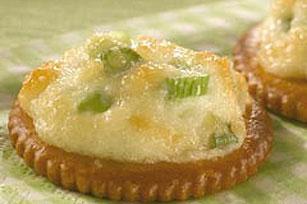 Parmesan-Onion Appetizer Rounds Recipe