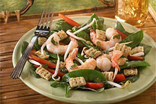 Asian Shrimp and Spinach Salad Recipe