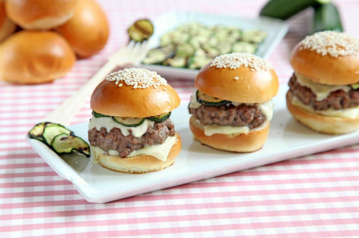 Eccezionale Mini hamburger con zucchine grigliate JD95