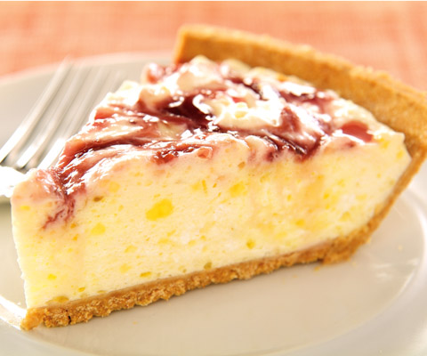Zesty Lemon-Raspberry Swirl Pie Recipe