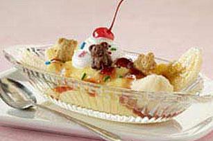 5-Minute Pudding Banana Split Recipe