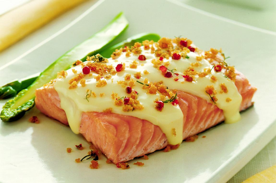 Trancio di salmone al pepe rosa senza lattosio