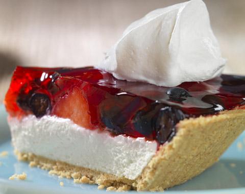 Summer Berry Cheesecake Pie Recipe