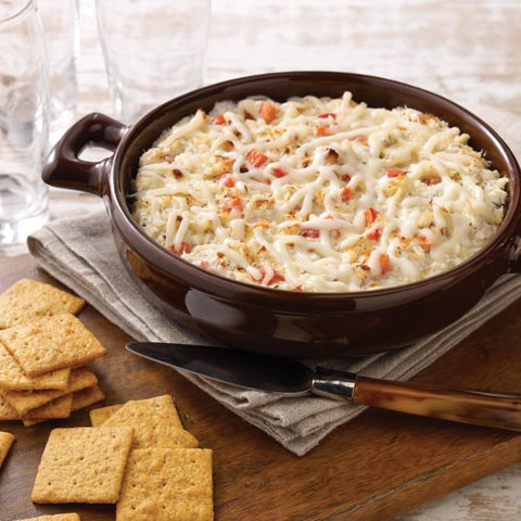 Cheesy Hot Crab and Red Pepper Spread Recipe