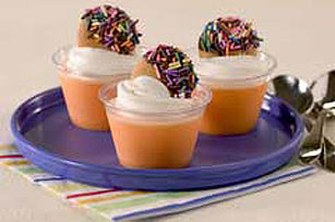 Cookie-Topped Creamy Orange Cups Recipe