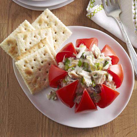 Festive Tuna-Stuffed Tomatoes Recipe