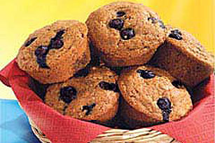 Blueberry-Cinnamon Graham Muffins Recipe