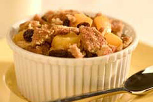 Peachy-Raisin Crisp Recipe